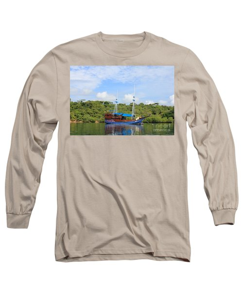 Long Sleeve T-Shirt featuring the photograph Cruising Yacht by Sergey Lukashin