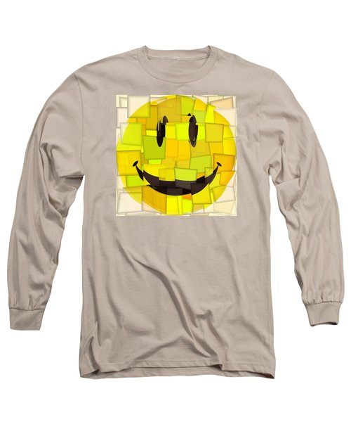 Cubism Smiley Face Long Sleeve T-Shirt