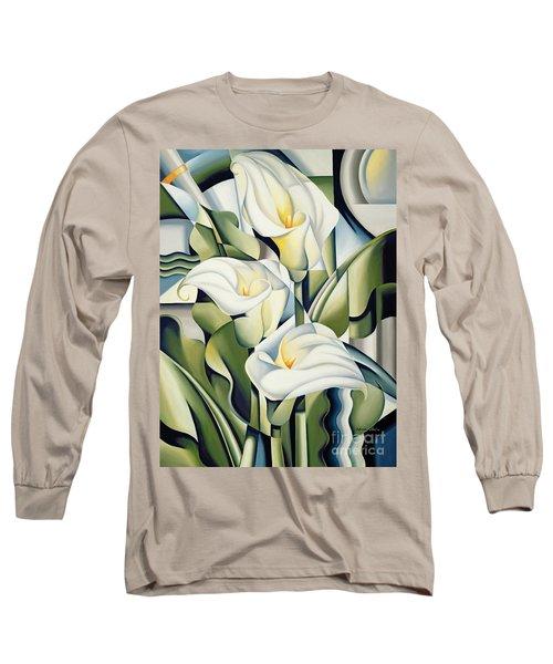 Cubist Lilies Long Sleeve T-Shirt