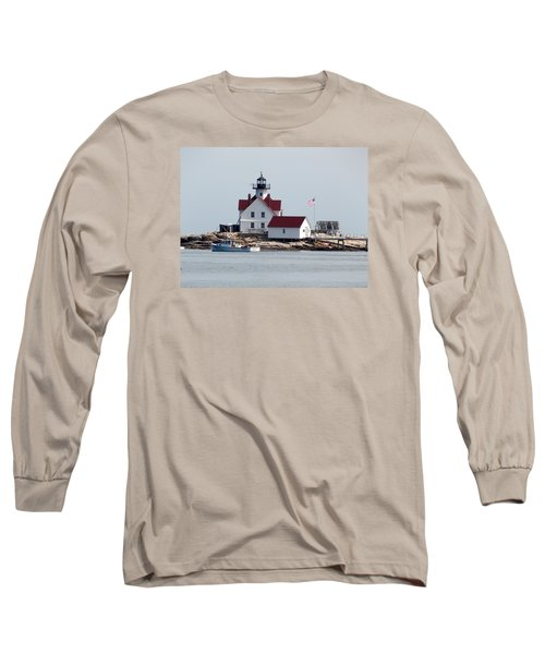 Cuckholds Lighthouse Long Sleeve T-Shirt by Catherine Gagne