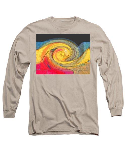 Long Sleeve T-Shirt featuring the photograph Curb Swirl by Brooks Garten Hauschild