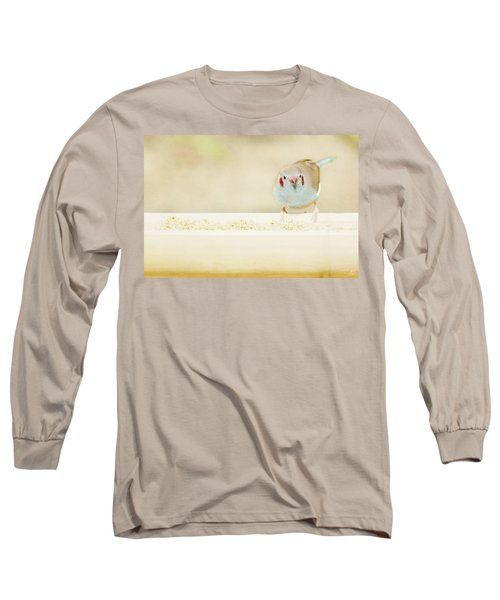 Curious Cordon Bleu Finch  Long Sleeve T-Shirt