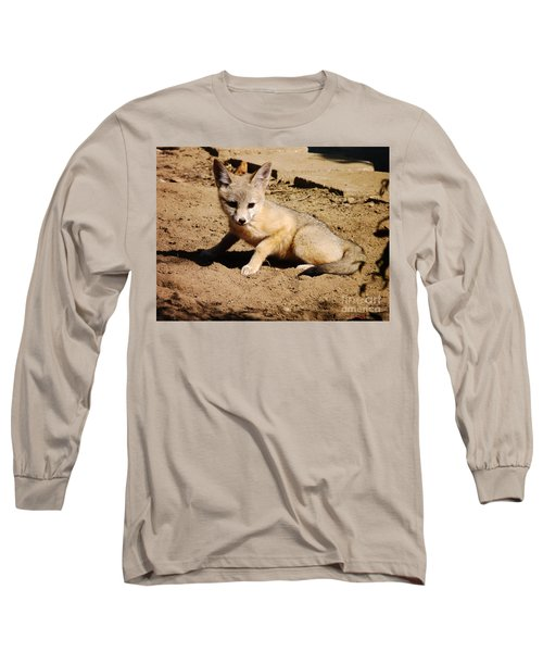 Curious Kit Fox Long Sleeve T-Shirt