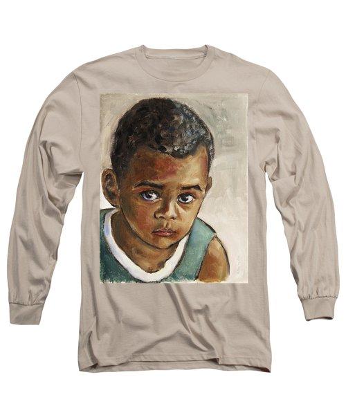 Curious Little Boy Long Sleeve T-Shirt