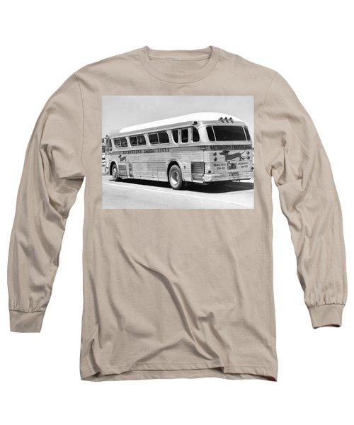 Dachshound Charter Bus Line Long Sleeve T-Shirt