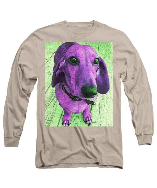 Dachshund - Purple People Greeter Long Sleeve T-Shirt