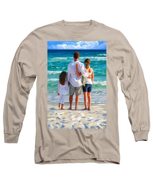 Dad And His Girls Long Sleeve T-Shirt