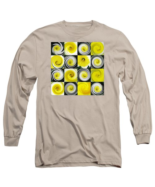 Daffodil Spring Mosaic Long Sleeve T-Shirt by Sarah Loft