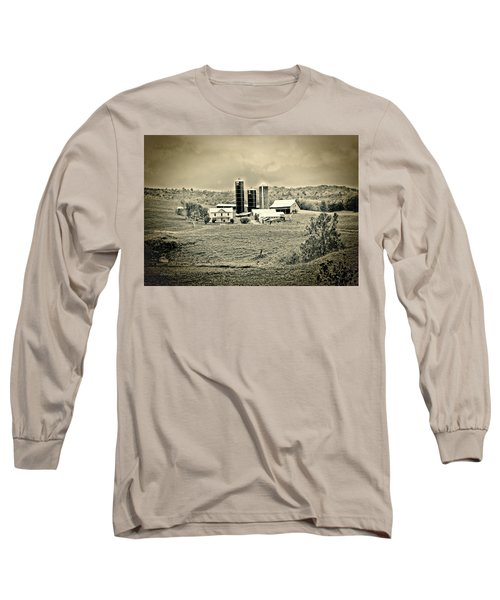 Long Sleeve T-Shirt featuring the photograph Dairy Farm by Denise Romano