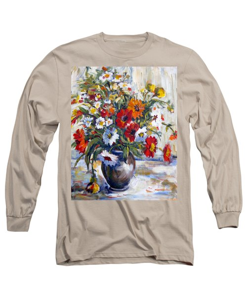 Daisies Long Sleeve T-Shirt by Alexandra Maria Ethlyn Cheshire