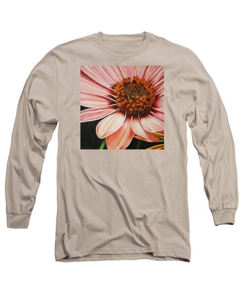 Daisy In Pink Long Sleeve T-Shirt by Bruce Bley