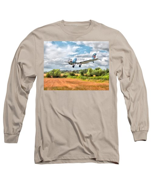 Dakota - Cleared To Land Long Sleeve T-Shirt by Paul Gulliver