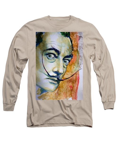 Long Sleeve T-Shirt featuring the painting Dali by Laur Iduc