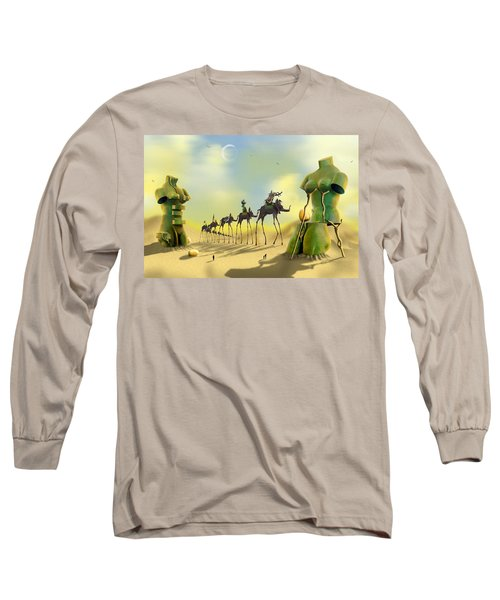 Dali On The Move  Long Sleeve T-Shirt by Mike McGlothlen