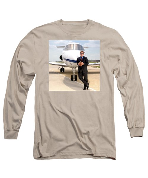 Dallas Cowboys Superbowl Quarterback Troy Aikman Long Sleeve T-Shirt by David Perry Lawrence