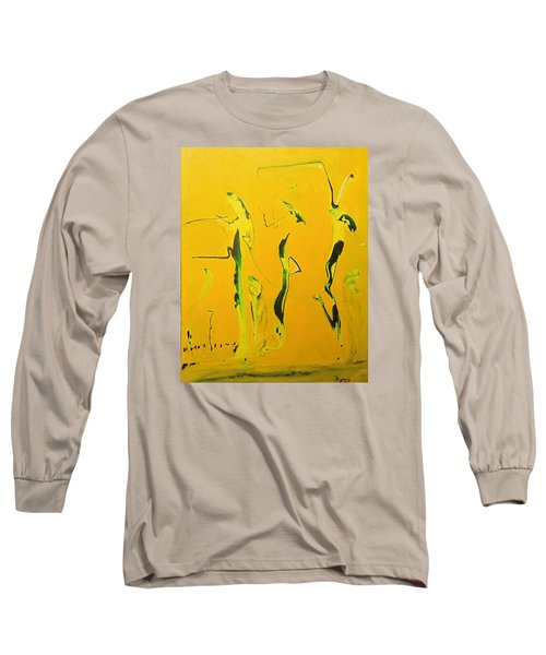 Long Sleeve T-Shirt featuring the painting Dames Du Salon Francais by Kicking Bear  Productions