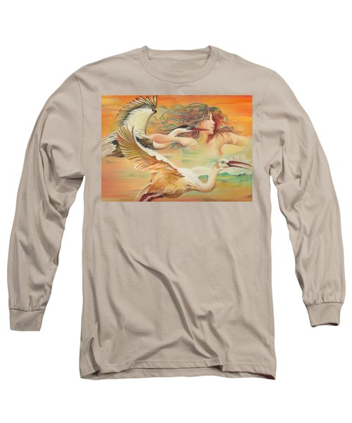 Dancing With Birds Long Sleeve T-Shirt