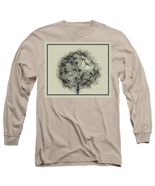 Long Sleeve T-Shirt featuring the photograph Dandelion 6 by Kathy Barney