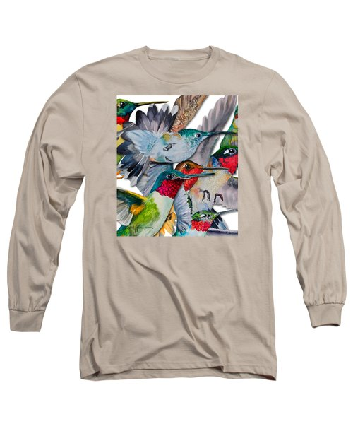 Da133 Hummingbirds By Daniel Adams Long Sleeve T-Shirt