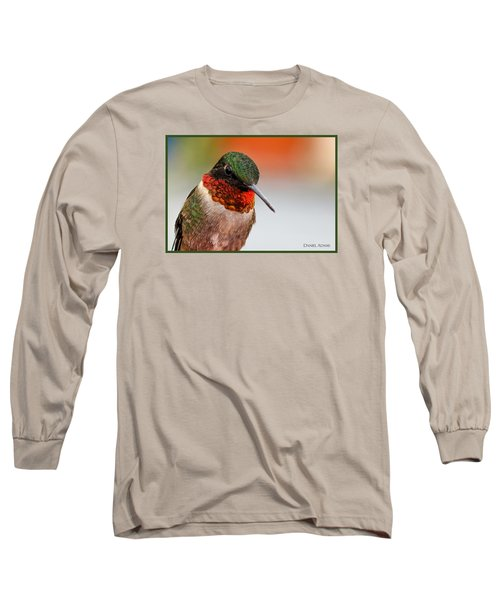 Da162 Hummingbird Thinking By Daniel Adams Long Sleeve T-Shirt