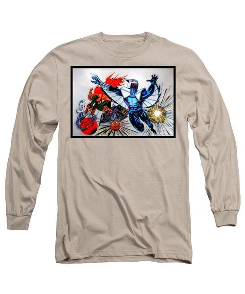 Darkhawk Vs Hobgoblin Focused Long Sleeve T-Shirt