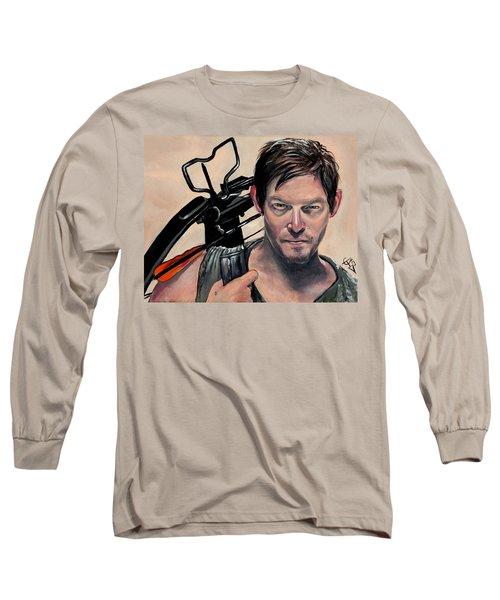 Daryl Dixon Long Sleeve T-Shirt by Tom Carlton