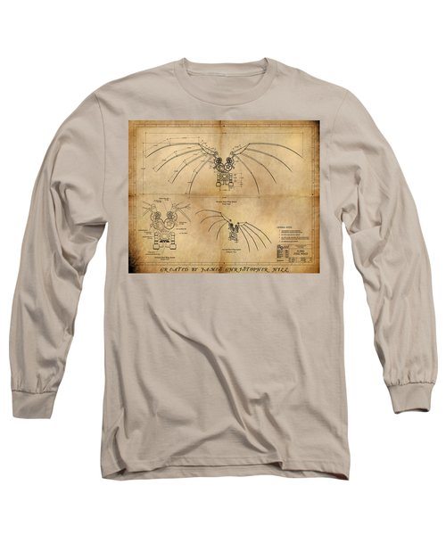 Davinci's Wings Long Sleeve T-Shirt by James Christopher Hill