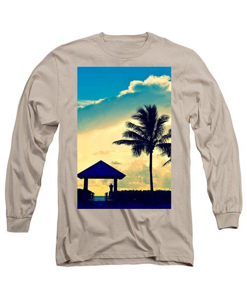 Dawn Beach Pyramid Long Sleeve T-Shirt