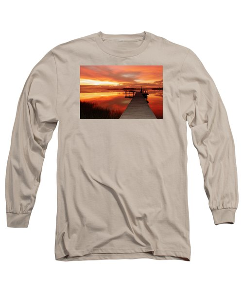 Dawn Of New Year Long Sleeve T-Shirt by Karen Wiles