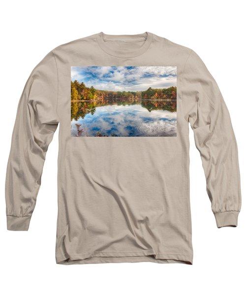 Dawn Reflection Of Fall Colors Long Sleeve T-Shirt