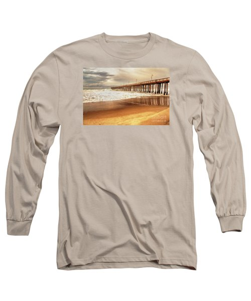 Day At The Pier Large Canvas Art, Canvas Print, Large Art, Large Wall Decor, Home Decor, Photograph Long Sleeve T-Shirt by David Millenheft