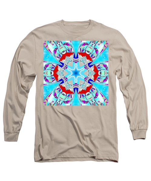 Deep Blue Geometry Long Sleeve T-Shirt