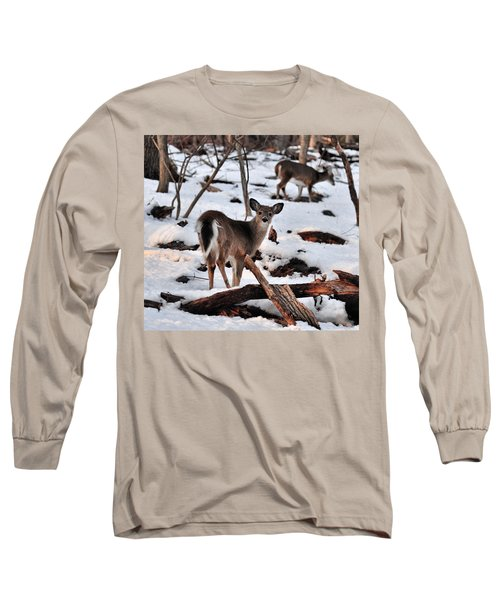 Deer And Snow Long Sleeve T-Shirt