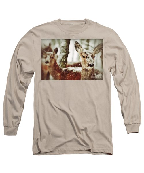 Deer In The Snow Long Sleeve T-Shirt