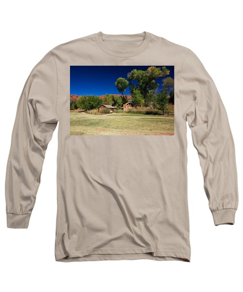 Long Sleeve T-Shirt featuring the photograph Desert Field by Dave Files