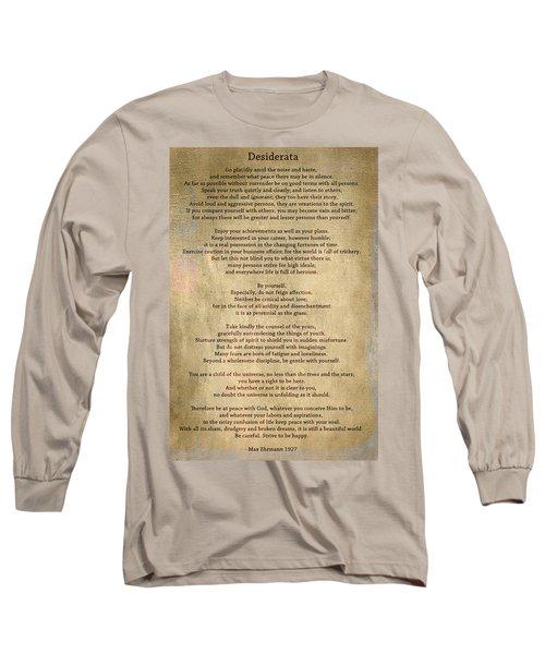 Desiderata - Scrubbed Metal Long Sleeve T-Shirt