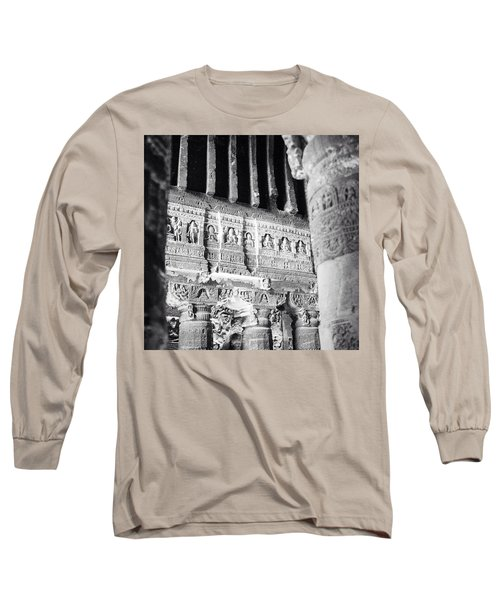 Details Of Carvings In Ajanta Caves Long Sleeve T-Shirt