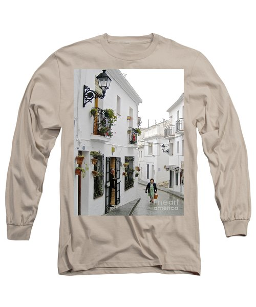 Dinner Delivery Long Sleeve T-Shirt by Suzanne Oesterling