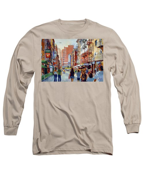 Dinner In Little Italy Long Sleeve T-Shirt