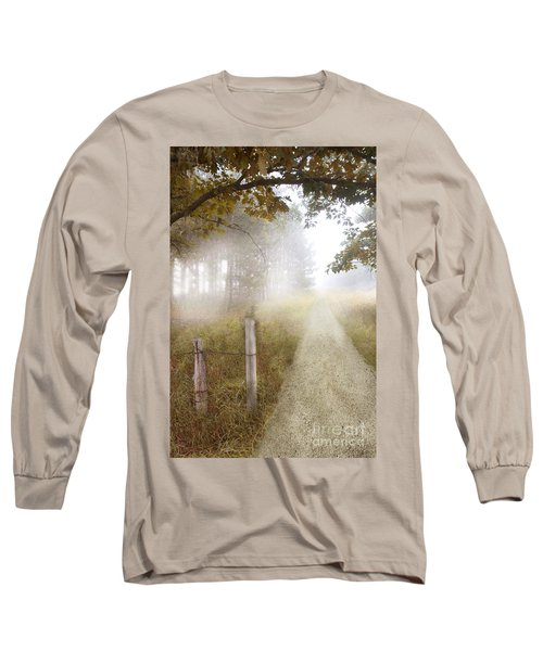Dirt Road In Fog Long Sleeve T-Shirt