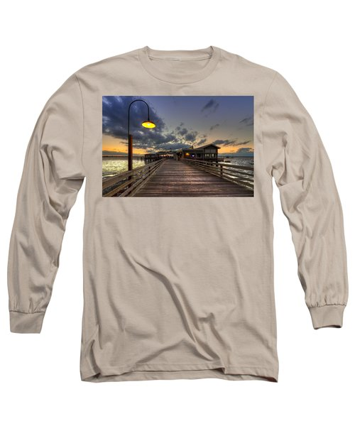 Dock Lights At Jekyll Island Long Sleeve T-Shirt