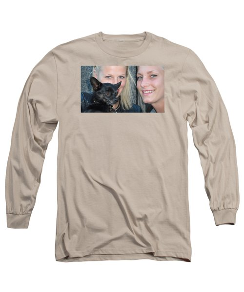 Long Sleeve T-Shirt featuring the photograph Dog And True Friendship 6 by Teo SITCHET-KANDA