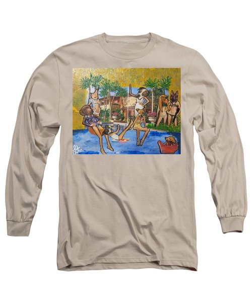 Dog Days Of Summer Long Sleeve T-Shirt by Lisa Piper