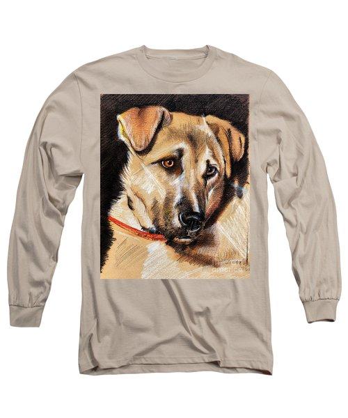 Dog Portrait Drawing Long Sleeve T-Shirt