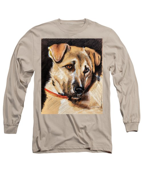 Dog Portrait Drawing Long Sleeve T-Shirt