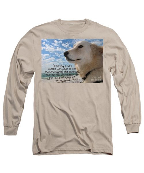 Doggie Soul Long Sleeve T-Shirt by Peggy Hughes
