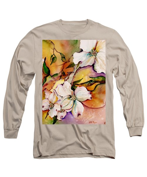 Dogwood In Spring Colors Long Sleeve T-Shirt by Lil Taylor