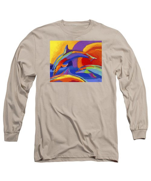 Dolphin Dance Long Sleeve T-Shirt by Stephen Anderson