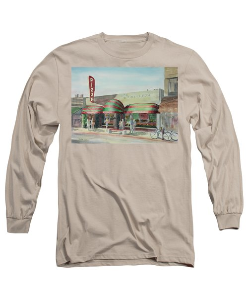 Domenicos In Long Beach Long Sleeve T-Shirt by Debbie Lewis