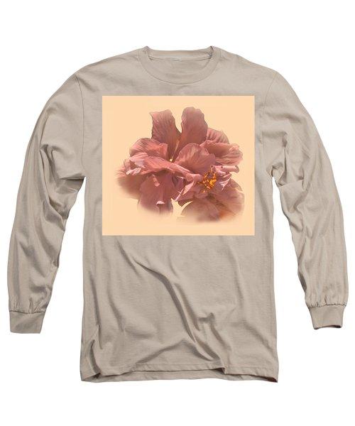 Double Hibiscus Portrait Long Sleeve T-Shirt